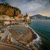 A Wider Look At The Town Of Atrani - Atrani, Amalfi Coast, Campania, Bay Of Naples, Italy