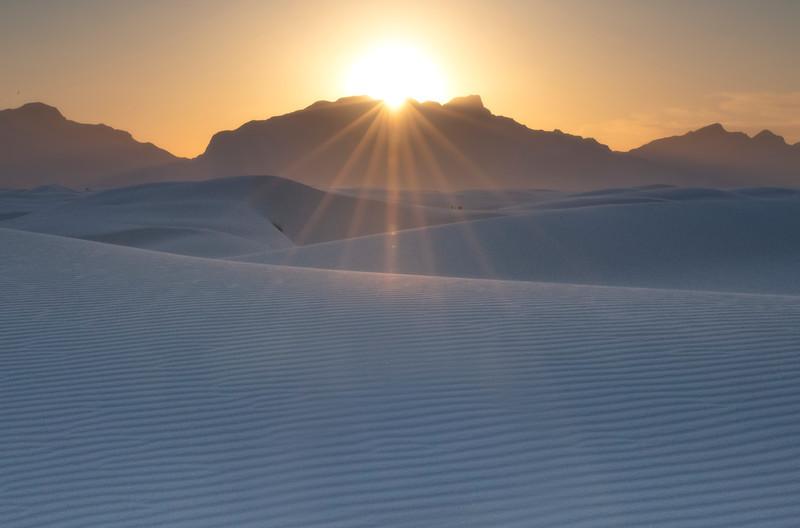 Sunburst Over The White Dunes - White Sands National Monument, New Mexico