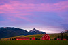 Pink Skies Fill The Sky In The Wallowas Wallowa County, Oregon