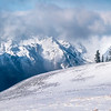 Snow Blown Peaks On Top Of Hurricane - Hurricane Ridge, Olympic National Park, WA