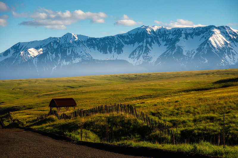 Morning Mist Hangs Over The Zumwalt Prarie Wallowa County, Oregon
