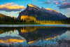 Mt Rundle And Scattered Light - Vermillion Lakes, Banff National Park, AB, Canada