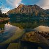 Mirror Reflections On St Marys Lake - Wild Goose Island Lookout, Saint Mary's Lake, Glacier National Park, Montana