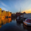 Reflections Of Last Light In The Waters Of Amsterdam
