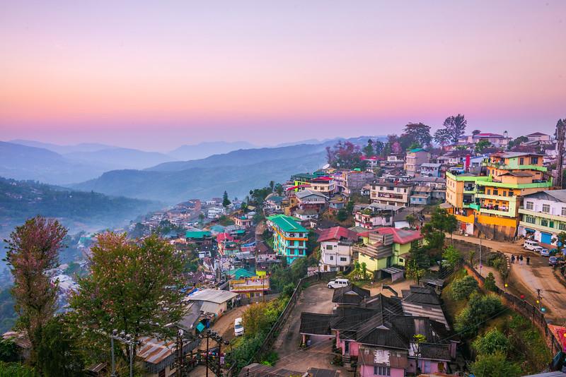 Sunset Pinks Over The Hillsides Of Kohima - Kohima, North-Eastern India