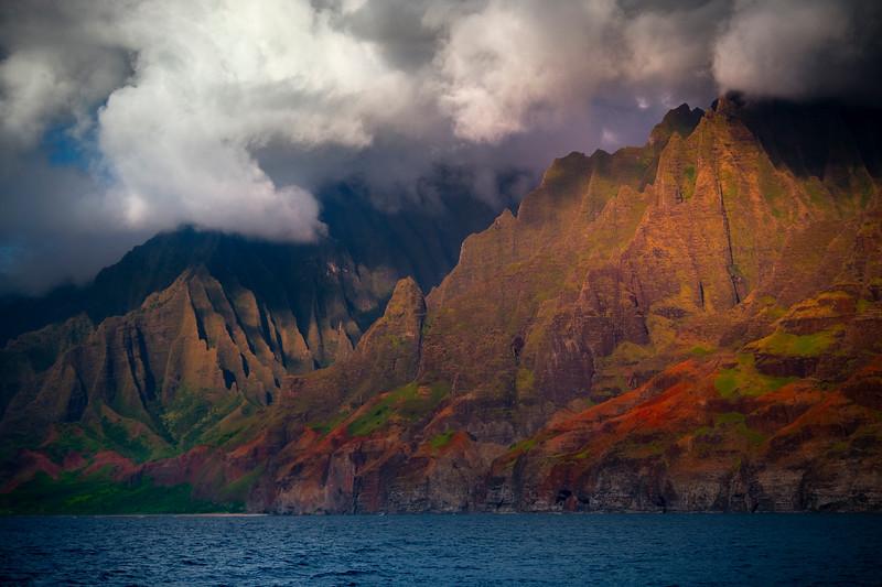 Last Moments Of Light On The Spires - Na Pali Coastline, Kauai, Hawaii