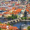 The Charles Bridge And Its Passengers From High Above