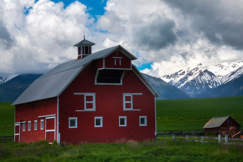 The Perfect Place To Have A Barn Wallowa County, Oregon