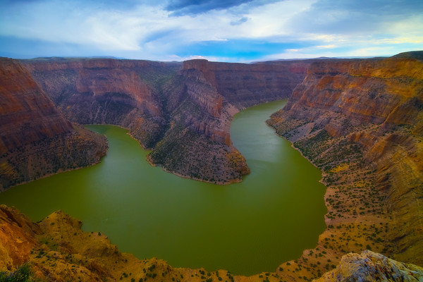 The Big Turn In The Bighorn Canyon - Bighorn Canyon National Recreation Area, Wyoming