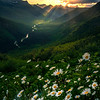 Sunburst Over The Glacier Valley - Going To The Sun Road, Glacier National Park, Montana