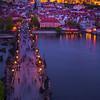 Charles Bridge During Twilight