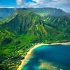 One Of Many Inlets Along The North Shore Of Kauai - Na Pali Coastline, Kauai, Hawaii