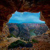 Inside A Cave Looking At Bighorn Canyon - Bighorn Canyon National Recreation Area, Wyoming