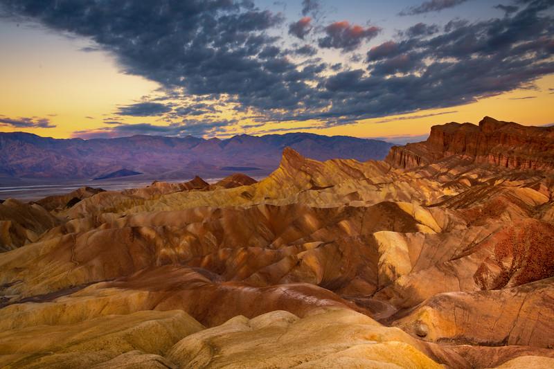 Zabriskie Point Sunrise - Death Valley National Park, Eastern Sierras, California