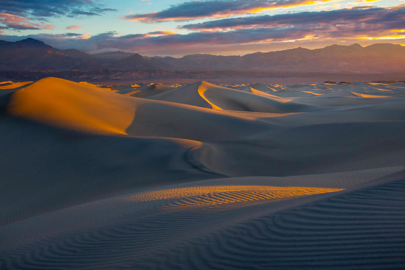 Beginning Of A New Day In Death Valley - Death Valley National Park, Eastern Sierras, California