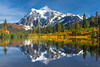 Mt Shuksan With Fresh Snow From Picture Lake - North Cascades National Park, WA