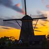 After The Sun Sets On Kinderdijk