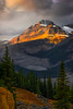 Streaking Light On The Peaks At Peyto Lak - Peyto Lake, Icefields Parkway, Alberta, Canada