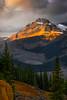 Streaking Light On The Peaks At Peyto Lak - Peyto Lake, Icefields Parkway, Alberta, Canada