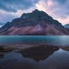 Bow Lake Early Twilight Morning - Bow Lake, Icefields Parkway, Banff National Park, AB, Canada
