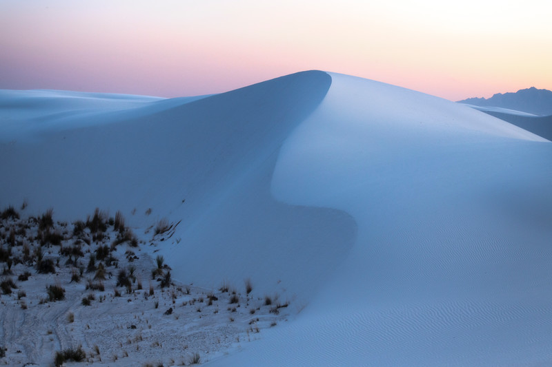 A Large Dune To Have Cross - White Sands National Monument, New Mexico