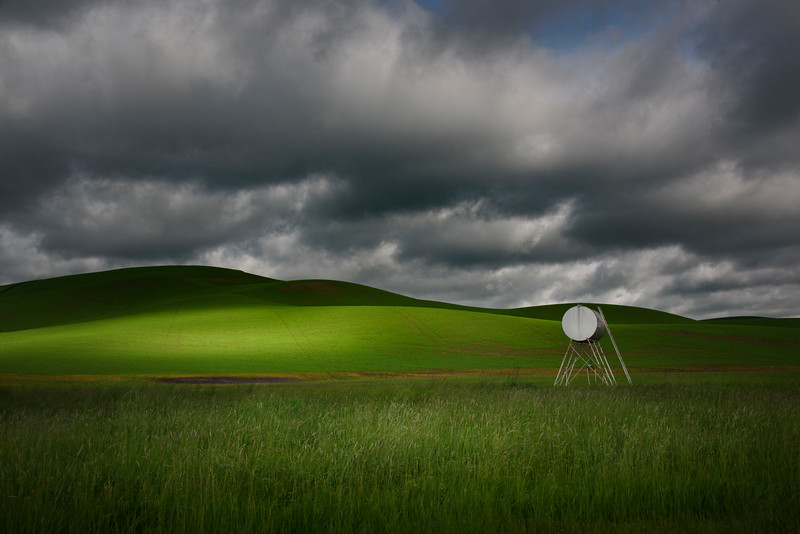 Hints Of Light Shining Through Clouds - The Palouse Region, Washington