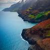 Rainbow Of Colors Looking Down Na Pali Coast - Na Pali Coastline, Kauai, Hawaii