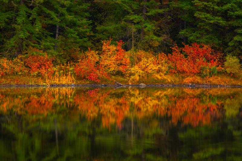 Autumn Mirror Ripples On Black Pine Lake - Methow Valley, Washington State