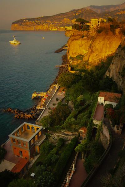 Last Light Shining Down The Coast Sorrento, Italy