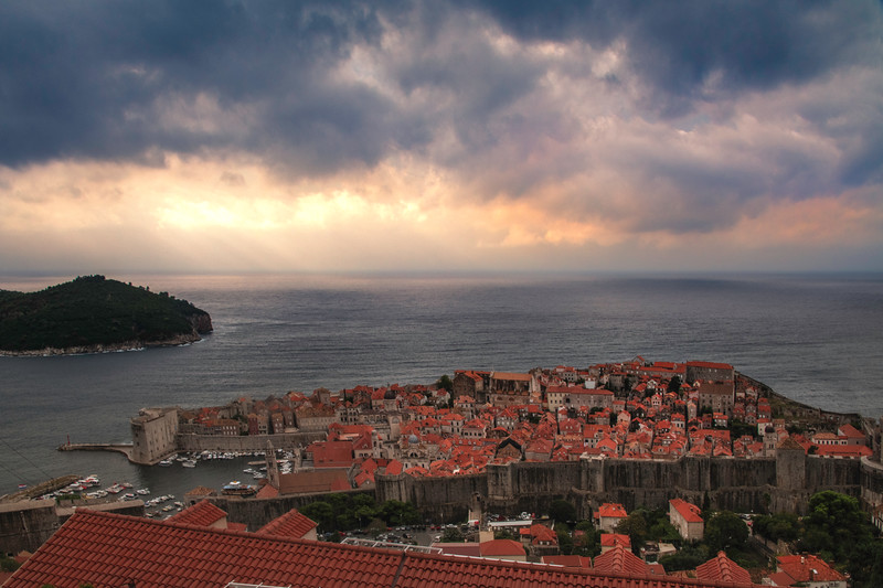 The Old Town Of Dubrovnik As Weather Shifts Above - Dubrovnik, Croatia