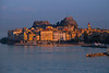 Sun Setting Last Light On The Old Town Of Corfu - Corfu, Greece