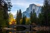 Half Dome And Stoneman Bridge In Afternoon Light - Lower Yosemite Valley, Yosemite National Park, California