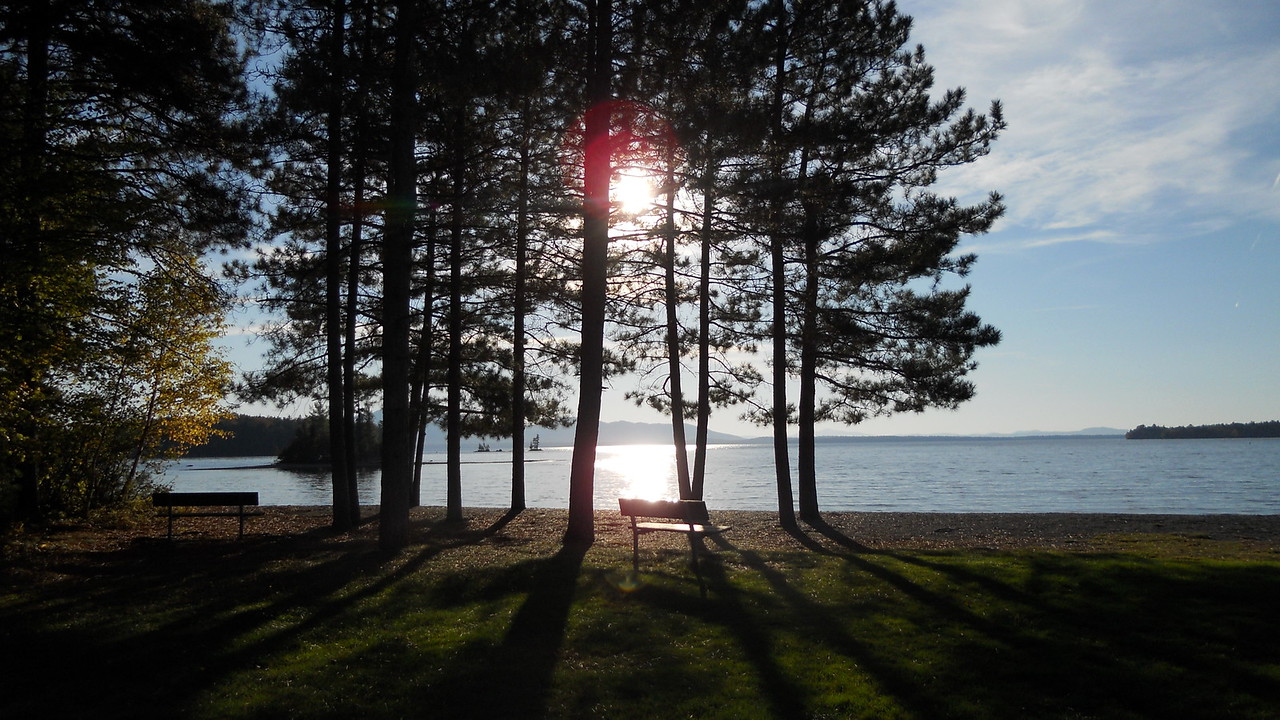 The beach at Lily Bay State Park on Moosehead Lake