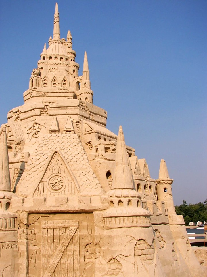 World's Largest Sand Castle (2007) at Point Sebago, ME