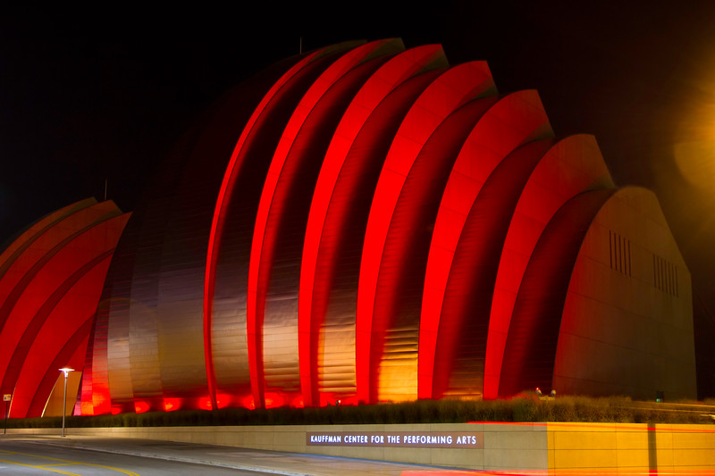 Kauffman Center for the Performing Arts on Red Friday.