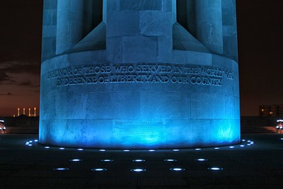 Base of Liberty Memorial during 2012 MLB All-Star Game