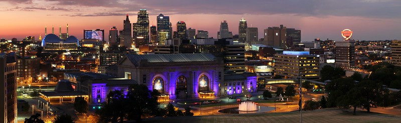 Kansas City Skyline during 2012 MLB All-Star Game.