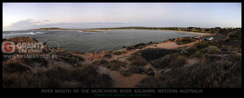 The mouth of the Murchison River. Kalbarri, Western Australia.