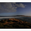 Murchison River mouth at night. The heart of Kalbarri in Western Australia.