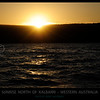 Sunrise over the ocean North of Kalbarri, Western Australia.