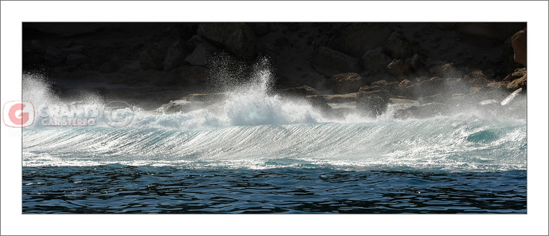 Shore break North of Kalbarri in Western Australia. Taken from the FishingWA boat on a relaxing day with the boys.