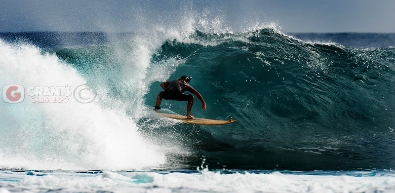 Surfing at Jacques Point in Kalbarri, Western Australia