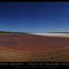 Salt flats at Port Gregory, South of Kalbarri, Western Australia.