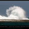 Waves hitting the reef at Lucky Bay south of Kalbarri, Western Australia like an explosive blast!