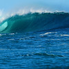 Ocean waves at the river mouth in Kalbarri, Western Australia.