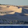 Sunrise over the sand dunes North of Kalbarri in Western Australia.