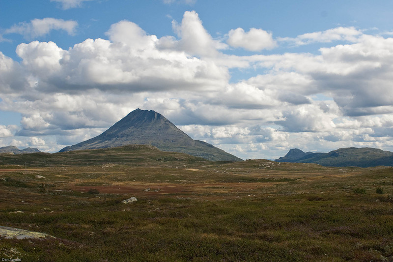 Mt. Gaustatoppen (1883 m o.h.) Hardangervidda, Norway (View from north-west)