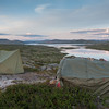 Leir med utsikt over Butjønn, Sprogen og Kalhovdfjorden