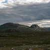 Geitebuhovde t.v (1301 m o.h.),  og vesle Geitebuhovde, Tinn/Telemark