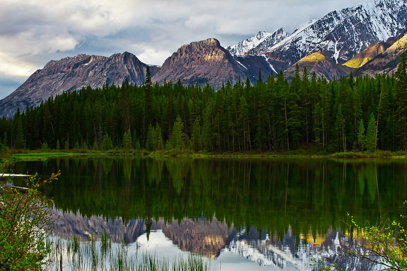 Canadian Rockies, Kananaskis Country, Peter Lougheed Provincial Park, Sunset, Reflection, Landscape, 加拿大, 洛矶山脉, 风景